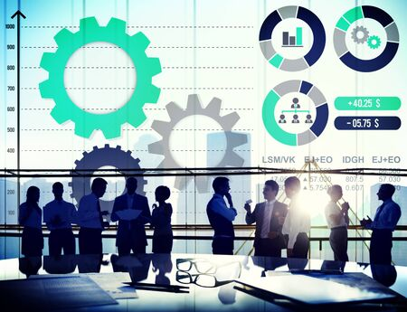 stock market data: Teamwork Collaboration Strategy Business Marketing Concept