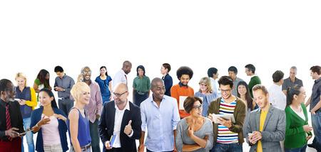 Community Casual Mensen Communicatie Team Vriendschap Concept Stockfoto