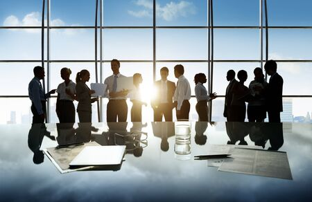 white collar: Business People Corporate White Collar Worker Office Concept Stock Photo