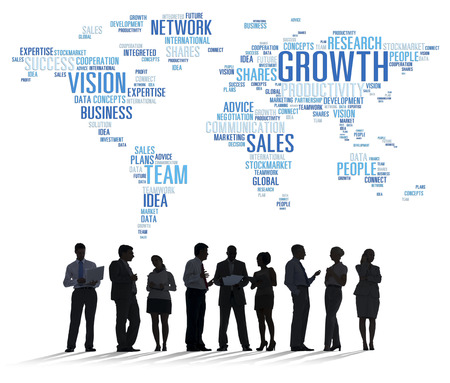 Global Business People Corporate Meeting Success Growth Concept Stockfoto