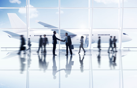 flight mode: Businessmen Partnership Travel Destination Business Trip Concept