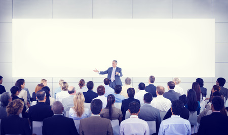 presentation board: Diversity Business People Seminar Presentation Team Concept Stock Photo