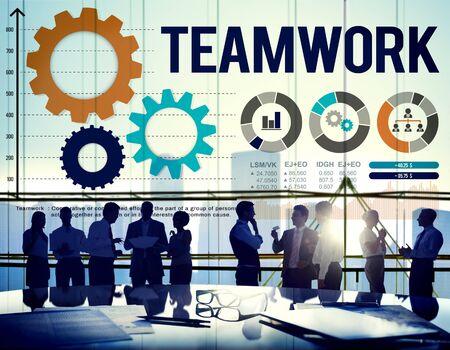 interest: Teamwork Collaboration Business Team Interest Concept Stock Photo