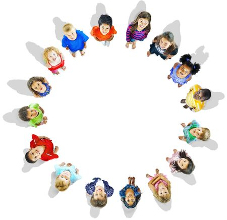 aspiration: Diversity Innocence Children Friendship Aspiration Concept