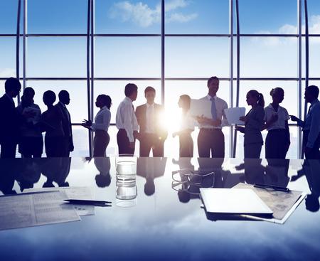ビジネス人企業ホワイト カラー労働者オフィス コンセプト 写真素材