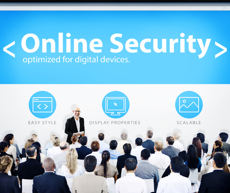 Business People Online Security Presentation Concept photo