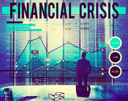 financial crisis: Financial Crisis Economics Banking Accounting Concept
