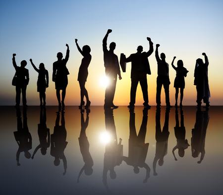 personas celebrando: Celebraci�n de negocios