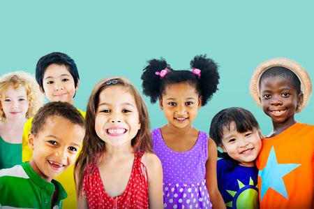 Diversity Children Friendship Innocence Smiling Concept Фото со стока