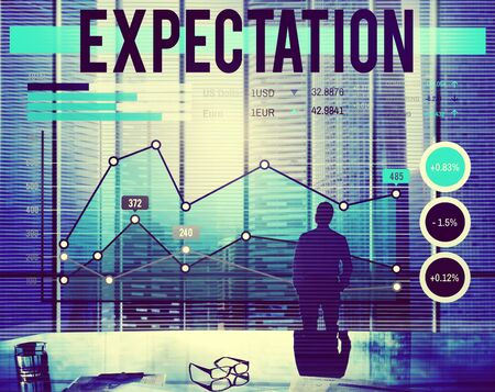 expectation: Expectation Anticipation Assumption Expecting Concept Stock Photo