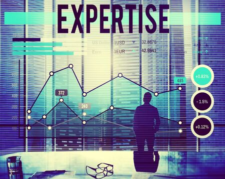 expertise: Business Expertise Report Progress Concept