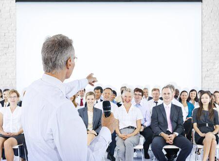work force: Business People Meeting Leader Speaker Teamwork Concept