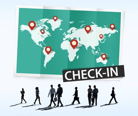locations: Check In Travel Locations Global World Tour Concept