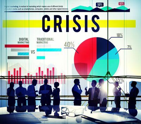 recession: Crisis Problem Recession Business Marketing Concept