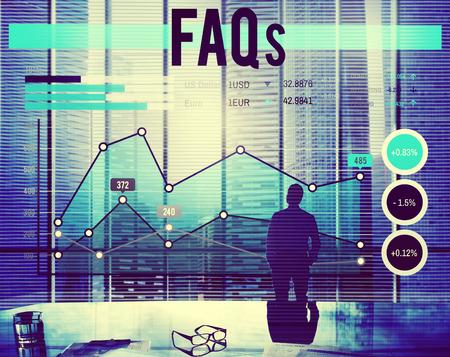 faq's: Business FAQs concept