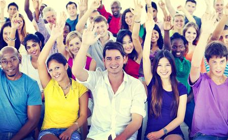 Diversité équipe Casual Enthousiaste Communauté Concept