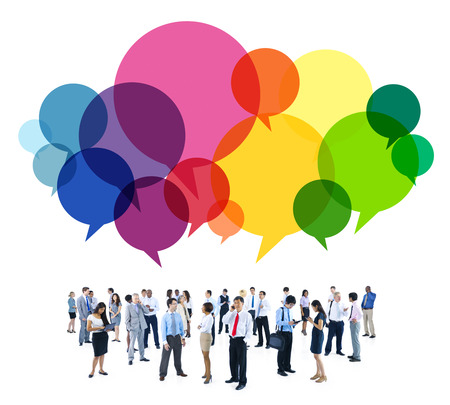 Business People Diverse Standing Communication Concept