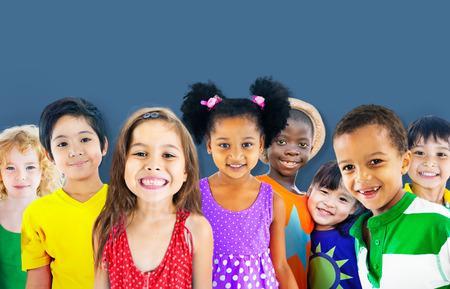 Diversity Children Friendship Innocence Smiling Concept Stockfoto