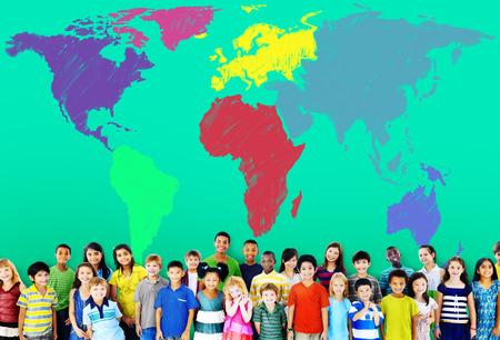 asian business group: World Map Global International Globalisation Concept