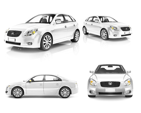silver sports car: Contemporary Shiny Luxury Transportation Performance Concept