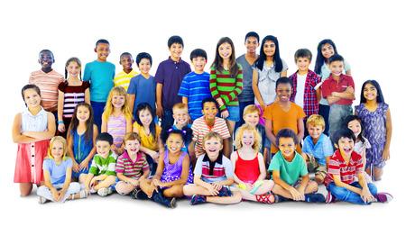 Kinderen Kids Happiness Multiethnic Group Vrolijk Concept Stockfoto