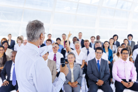 Equipo Deversity Gente de negocios corporativa Seminario Concepto
