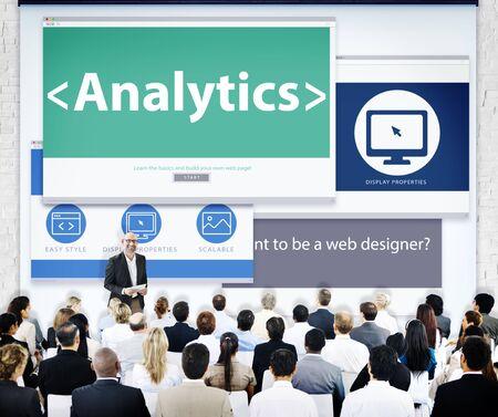 Business People Presentation Seminar Analytics Concept photo