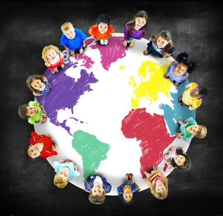 global communication: World Map Global International Globalisation Concept