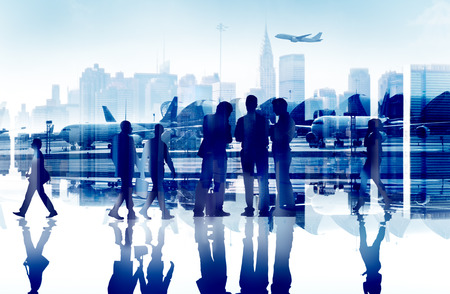 Business People Travel Corporate Aiport Passenger Terminal Concept