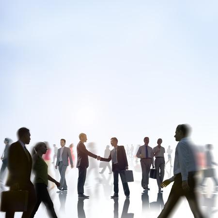 businessmen handshake: Businessmen Handshake Partnership Communter Concept