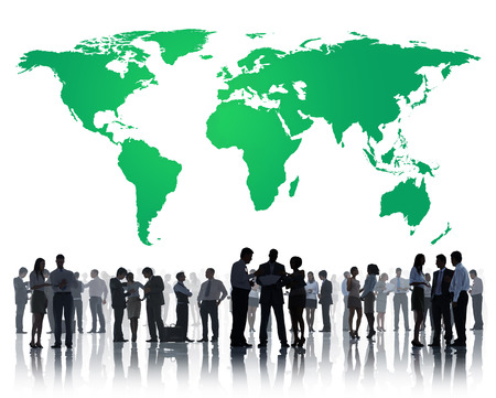 environmental conversation: Green Business Environment Global Conservation Concept Stock Photo