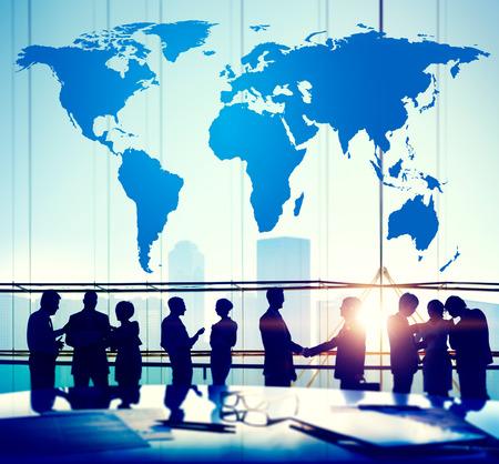 世界グローバル地図作成グローバル化地球国際概念