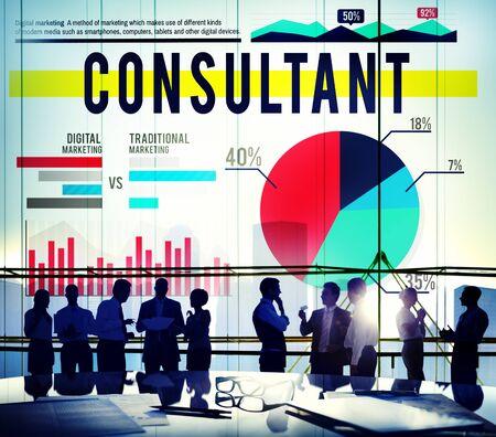 adviser: Consultant Adviser Leader Business Concept Stock Photo
