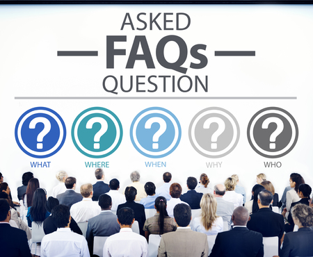 white people: Frequently Asked Questions FAQ Problems Concept