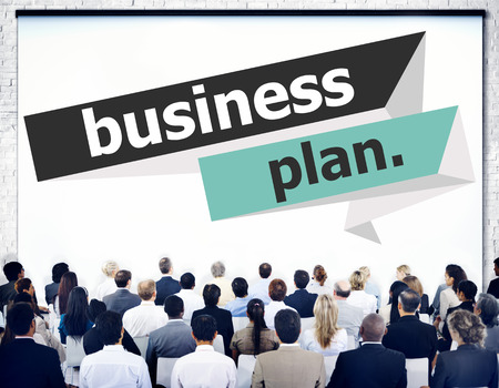 strategy meeting: Business Plan Planning Strategy Meeting Conference Seminar Concept Stock Photo