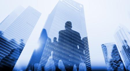 Zaken Mensen Walkingn Commuter Voetganger Cityscape Concept Stockfoto