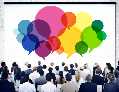 communication concept: Business People Meeting Presentation Communication Concept Stock Photo