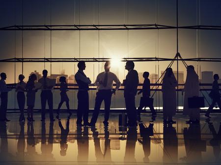 企業のビジネス人々 働くコミュニケーション オフィス コンセプト