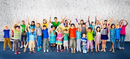 Children Kids Childhood Friendship Happiness Diversity Concept Zdjęcie Seryjne