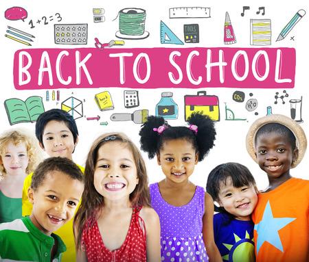 Kinderen Vrolijke Onderwijs Studeren Kennis Concept