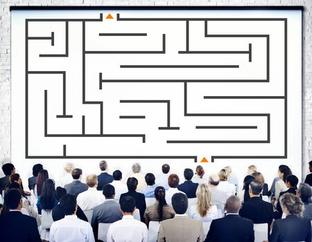 way out: Maze Direction Decision Way Out Solution Thinking Planning Concept