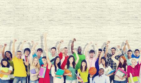 Community Diversiteit Groep Vrolijke Geluk Team Concept