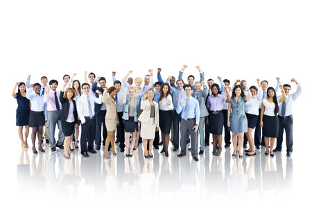 other keywords: Crowd Business People Celebration Success Togetherness Team Concept Stock Photo