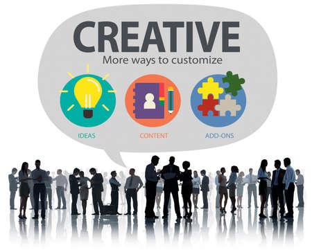 customize: Creative Innovation Vision Inspiration Customize Concept Stock Photo