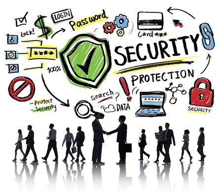 partnership security: Business People Greeting Partnership Security Protection Concept