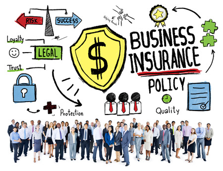 Multiethnic Crowd People Safety Risk Business Insurance Concept photo