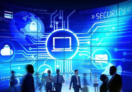 technology security: usiness People Commuter Technology Security Commuter Corporate Concept