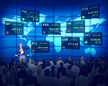 Business People Corporate Seminar Stock Exchange Finance Concept photo
