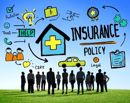 insurance policy: Diversity Business People Insurance Policy Working Concept