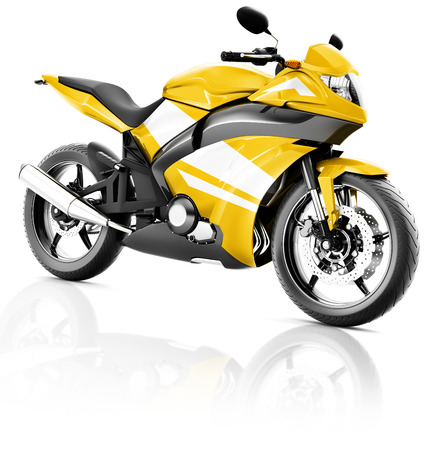 handlebar: Motorcycle Motorbike Bike Riding Rider Contemporary Yellow Concept